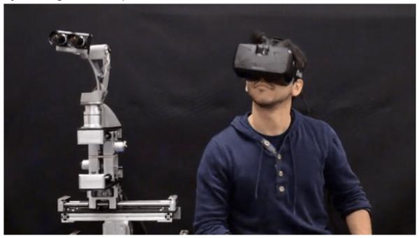 Consiguen teletransporte a un robot con unas gafas Oculus