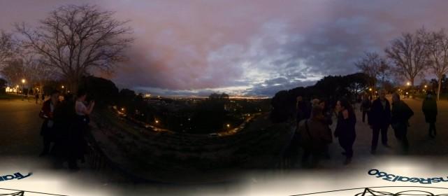 Timelapse de Vídeo 360º a 4K del atardecer en el Templo de Debod de Madrid