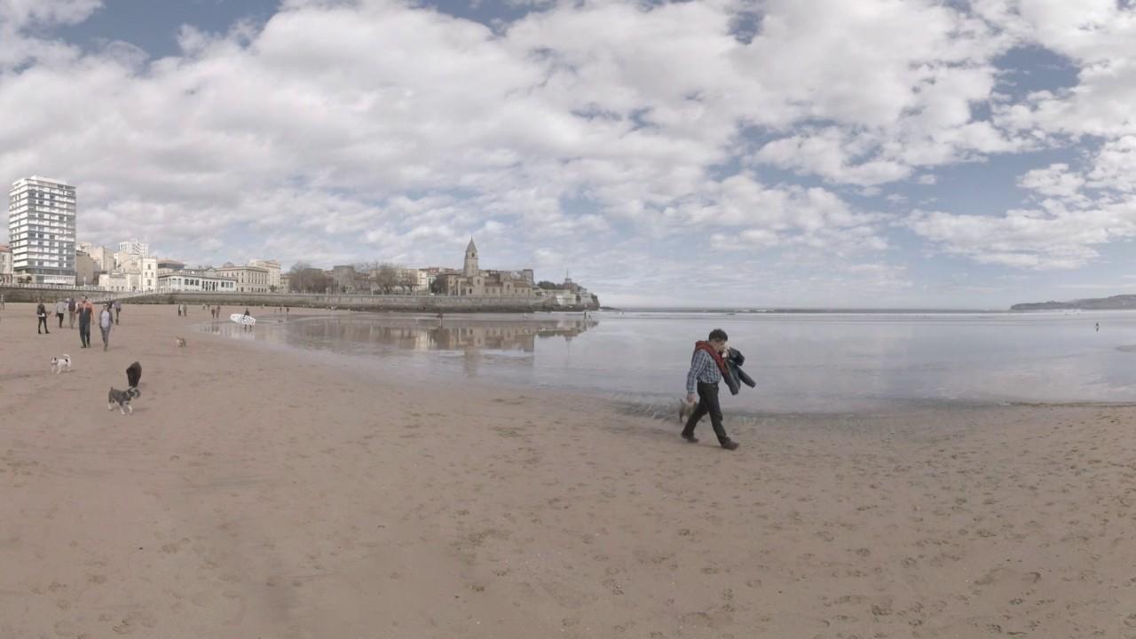 Vídeo 360º: Disfruta de la playa de Gijón sin moverte de casa