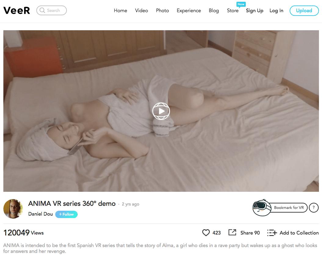La demo 360º de ÁNIMA supera las 120000 visitas en VeeR